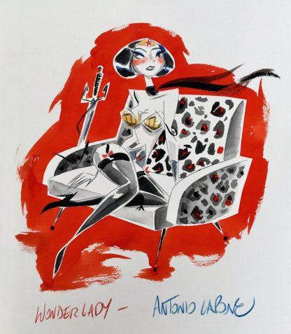 Wonder-Lady- Illustration en couleur